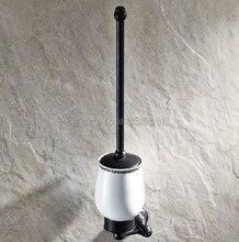 Вспомогательное Оборудование ванной комнаты Настенный Черный Масло Втирают Бронзовый Ванная Комната Держатель Для Туалетной Щетки Набор Wba448