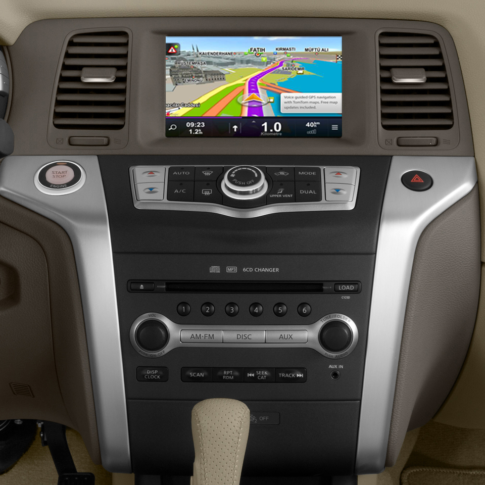 Android 6.0 Lettore Dvd Dell'automobile Per NISSAN Murano Z51 2009 2010 2011 2012 2013 2014 di Navigazione GPS Stereo BT AUX