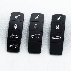 Image 1 - 3/4 silikon Gummi Schlüssel Taste Pad Auto Schlüssel Taste Pad Ersatz Für Porsche Cayenne Macan 911 Boxster Cayman Panamera