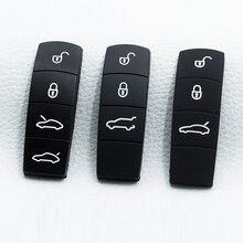 Pad de bouton clé de voiture en caoutchouc Silicone, 3/4, bouton de remplacement pour Porsche, Cayenne, Macan 911, Boxster, Cayman, Panamera