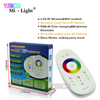 2 4G Wireless FUT027 Mi Light Touch Screen RGBW Led Controller 18A RF Remote Control For