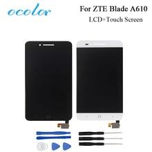 Ocolor zte ブレード A610 lcd ディスプレイとタッチスクリーン良いスクリーンデジタイザアセンブリの交換 zte の携帯アクセサリー