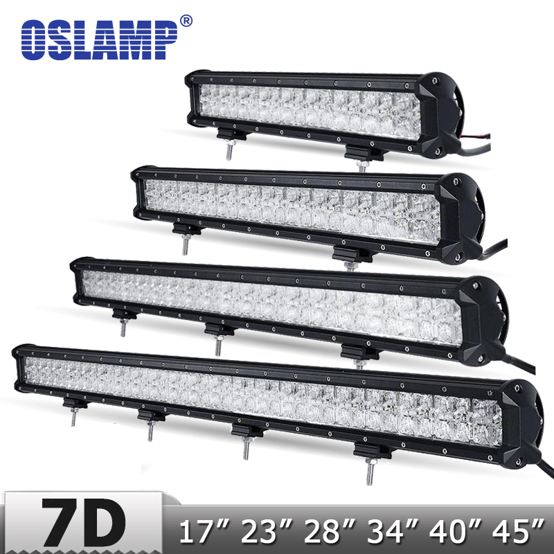 "Straight 28inch LED Light Bar COMBO Dual Row Lens White Color Work Lamp 30/"" 32/"""