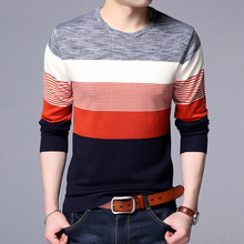 Sweater Mens Spring Knitted Korean Casual Sweater Anti-pilling Knitwear Relaxation Pullover Men Sweaters European British Style