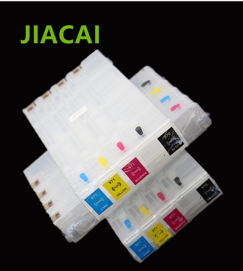 цена  4 color For HP 970 971 Refillable Ink Cartridge with ARC chip For HP Officejet Pro X451dn  X476dn  X551dw  X576d  printer 1set  онлайн в 2017 году