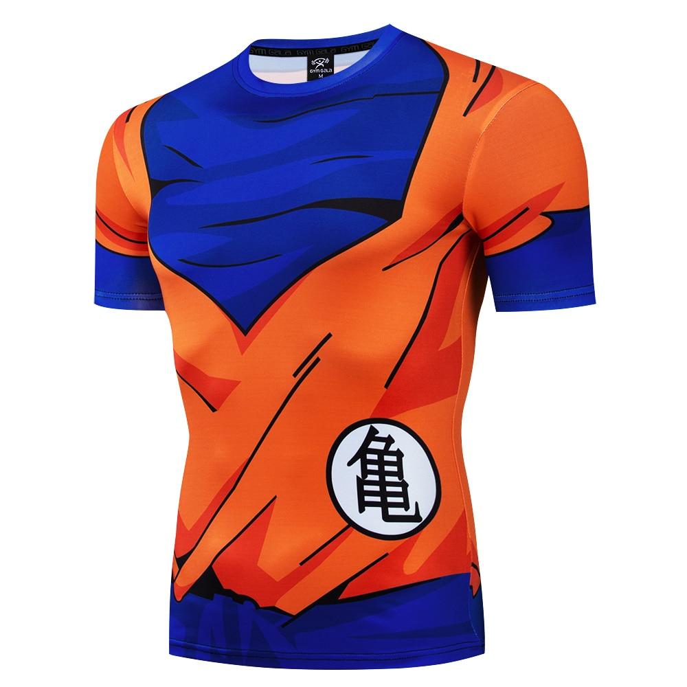 Goku T Shirt Dragon Ball Z T-shirts Anime Shirt Cosplay Tops Compression Costume Fitness Super Saiyan Armor Bejita/turtle Fairy