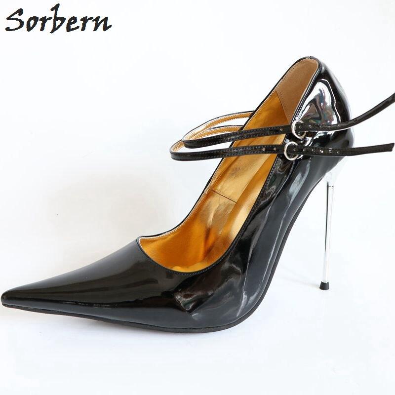 Sorbern Sexy Super Pointed Toe Women Pumps Stilettos 12Cm 14Cm 16Cm Shoes  Ladies Party 12a9745db263