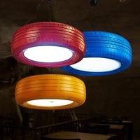 Лофт Стиль Ретро Цвет резиновые шины Droplight led подвесные светильники Обеденная подвесной светильник Винтаж Промышленное освещение