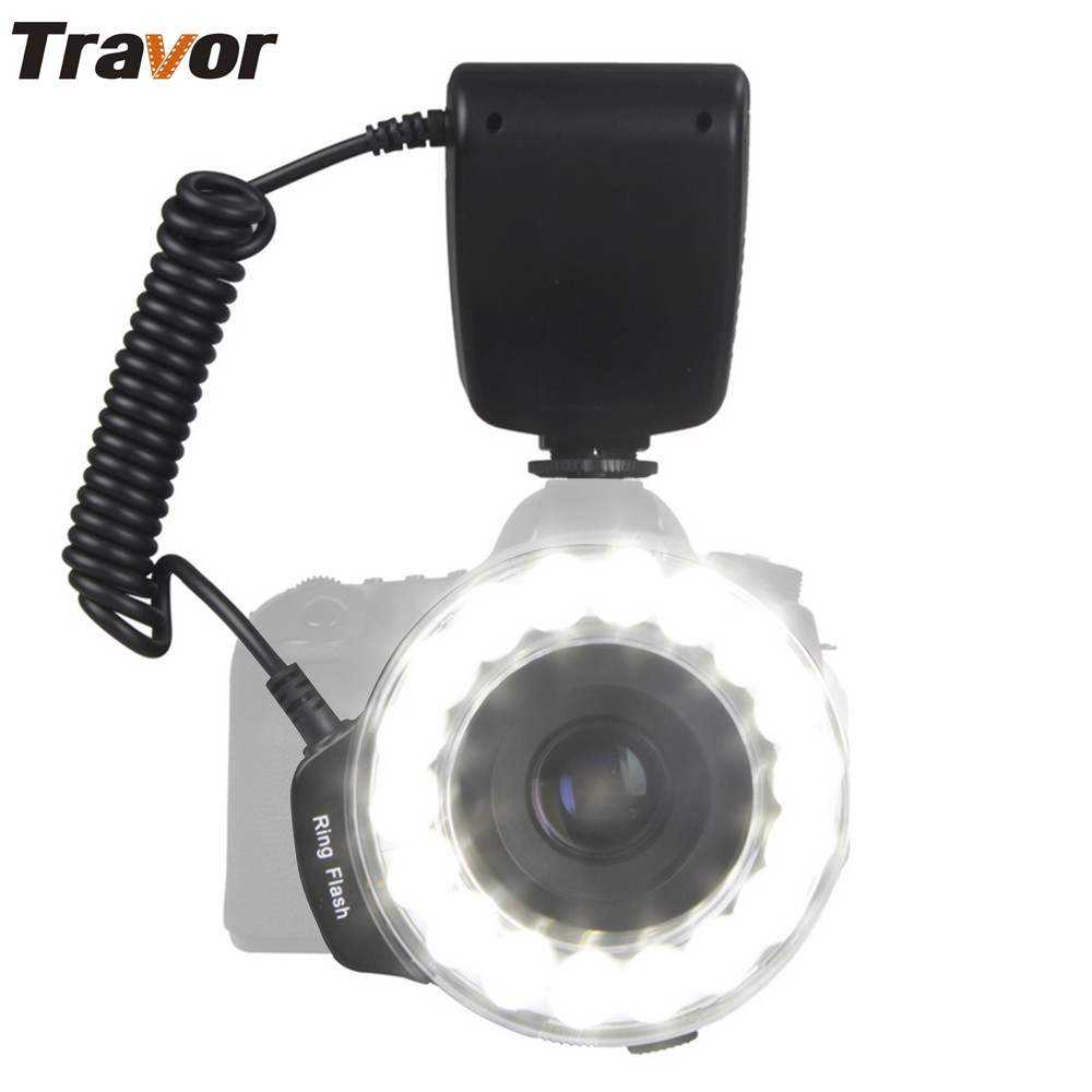 Travor Macro 18pcs LED Ring Flash Light RF-600E para SONY Minolta Camera
