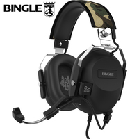 Orignal Bingle GX9000 Professional Vibration 7 1 Sound Gamer Microphone Bass Computer USB Game Noise Isolating