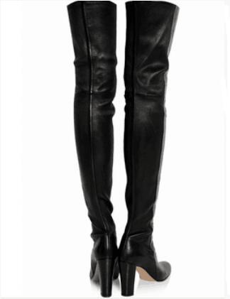 Moto Cuir Bout Mode Haute En Chaussures Noir Pic Chaussons Genou Sur As Plaine Rond Cuisse Carré Zip Automne Bottes Talon Femmes gwZ1qcWa5c