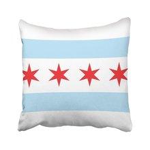 Copertura del cuscino Blu Segno di Chicago Bandiera Città Stato della  Louisiana Rosso Americano Cuscino Federa Piazza A Casa di . 6b09f28ffa58
