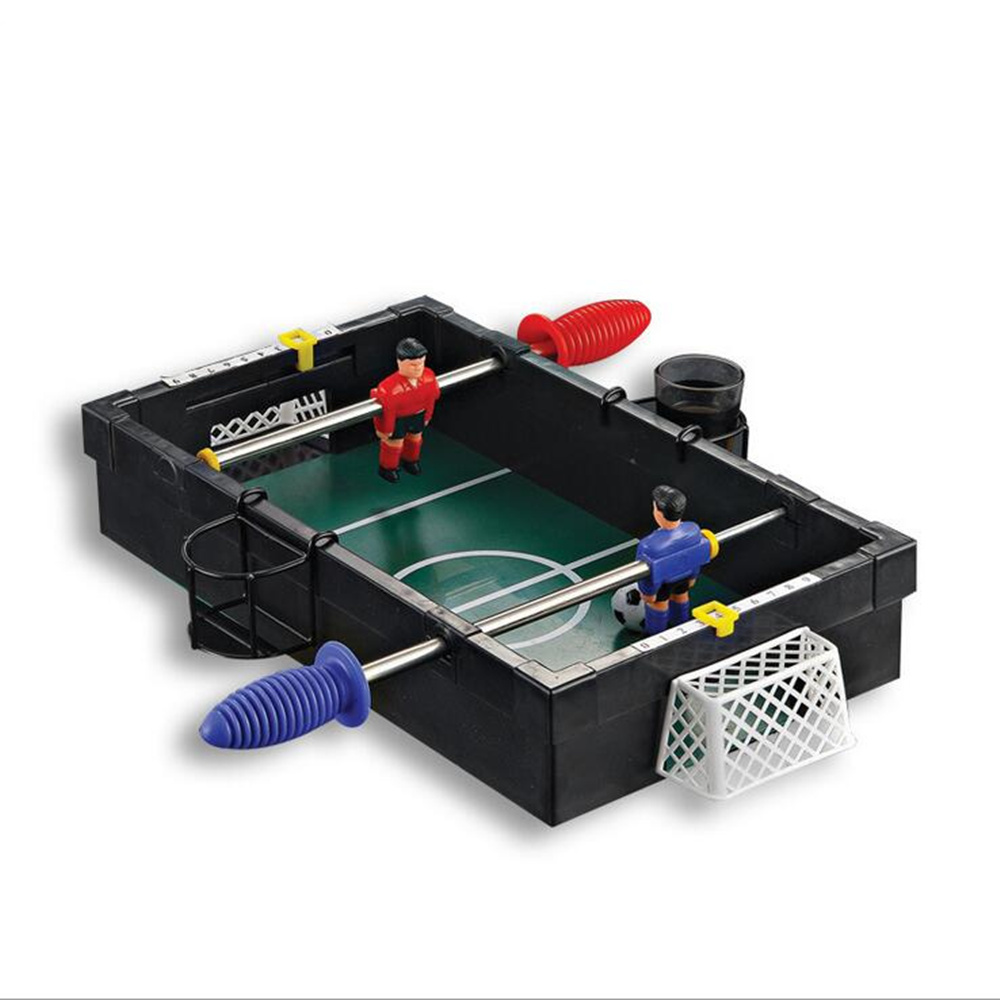 Funny Mini Size Table Soccer Competition Triumph Game Accessory For Drinking Game Rooms Bed Rooms College dorms funny table blue