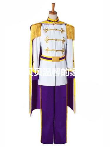 Custom Made Cinderella Prince Charming Purple Exclusive Adult Costume For Halloween Men Adult Cosplay Costume