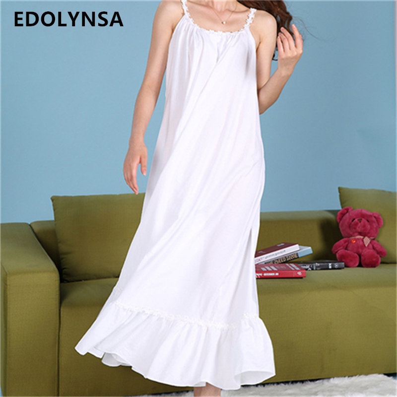 2017 sleep lounge women sleepwear cotton long nightgowns Long cotton sleep shirts
