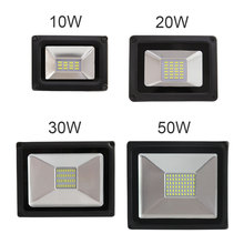 1 pz waterproof high power 50 w 4500lm 5730 smd led projector lamp led light sensor flood garden exterior lighting 176v - 264 v ip65 raincoat 10 w 20 w 30 w 50 wled projector lamp light exterior lighting project of flood main 176 264v toughened glass panel