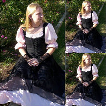 1860S Victorian Corset Gothic/Civil War Southern Belle Ball Gown Dress Halloween dresses  CUSTOM MADE R529