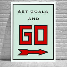 Alec Monopolys Set Goals And Go Abstract Wall Art Oil Painting Poster Canvas Painting Print Pictures for Living Room Home Decor(China)