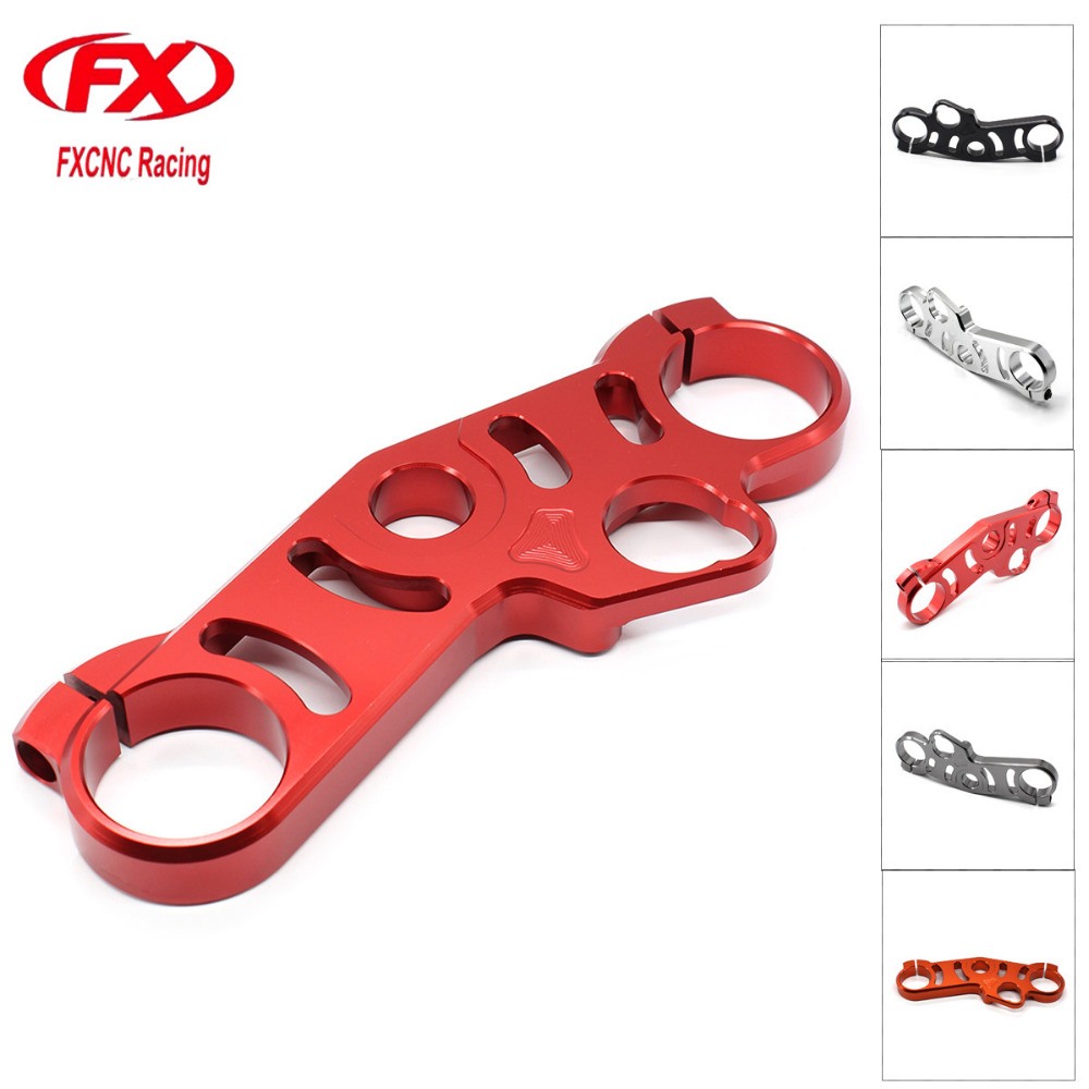 For SUZUKI GSXR 600 GSXR 750 2006 - 2009 Aluminum Motorcycle Fork Lowering Triple Tree Upper Top Clamp For GSXR 1000 2007 2008 front fork lowering triple tree upper top clamp for suzuki gsxr 1000 2005 2006 aluminum alloy moto accessories black one pcs