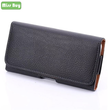 Missbuy Phone Pouch for Samsung Galaxy S9 S8 Plus S7 Edge Note 7 5 C7 PRO Leather Case Cover Belt Waist Clip Holster Bag