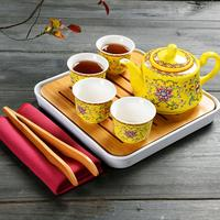 Drinkware Accessories Chinese Kung Fu Tea Set Tea Suit Ceramic Teapot Kettles Teacups Coffee Container Teaware Sets Home Decor