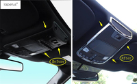 Lapetus Accessories For Ford F150 2016 2017 2018 Front Seat Upper Roof Reading Light Lamp Molding Cover Kit Trim 1 Piece