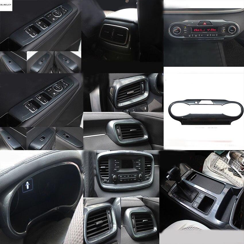 2018 Kia Sorento Exterior: 1lot ABS Carbon Fiber Grain Interior Decoration Cover For
