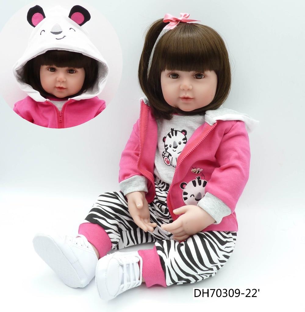 f9869187b17 High-end κούκλα πριγκίπισσας 55cm Αναγεννημένο μικρό παιδί κούκλα ...