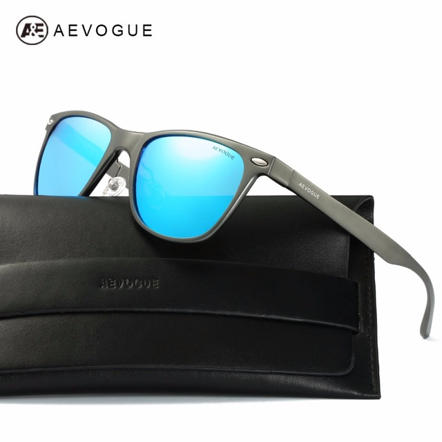 AEVOGUE Polarized Sunglasses Men Ultra-Light Aluminium Magnesium Frame Summer Style Unisex Sun Glasses With Box UV400 AE0525