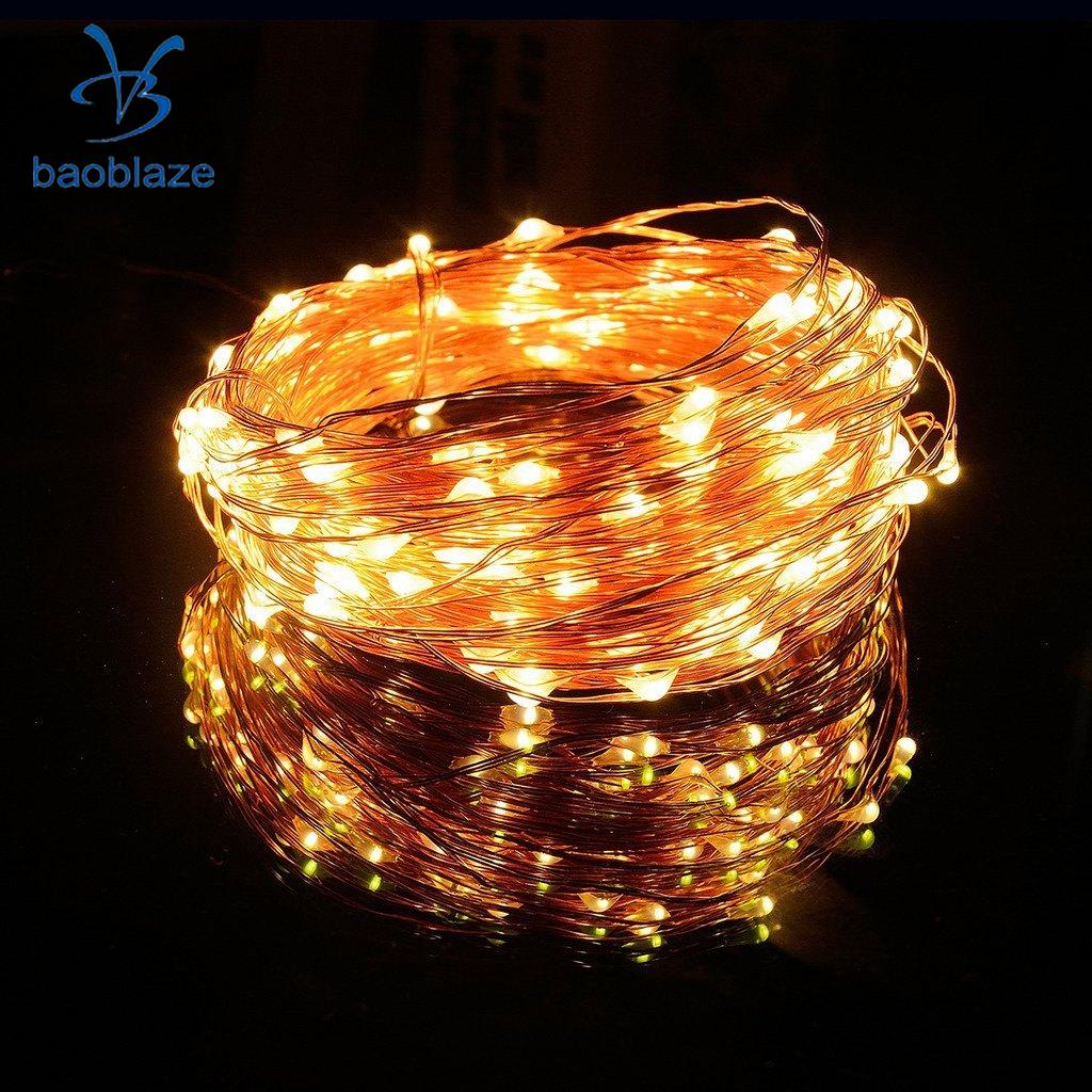 100 LED String Copper Wire Fairy Lights Battery Powered Waterproof DIY, 10 Meter