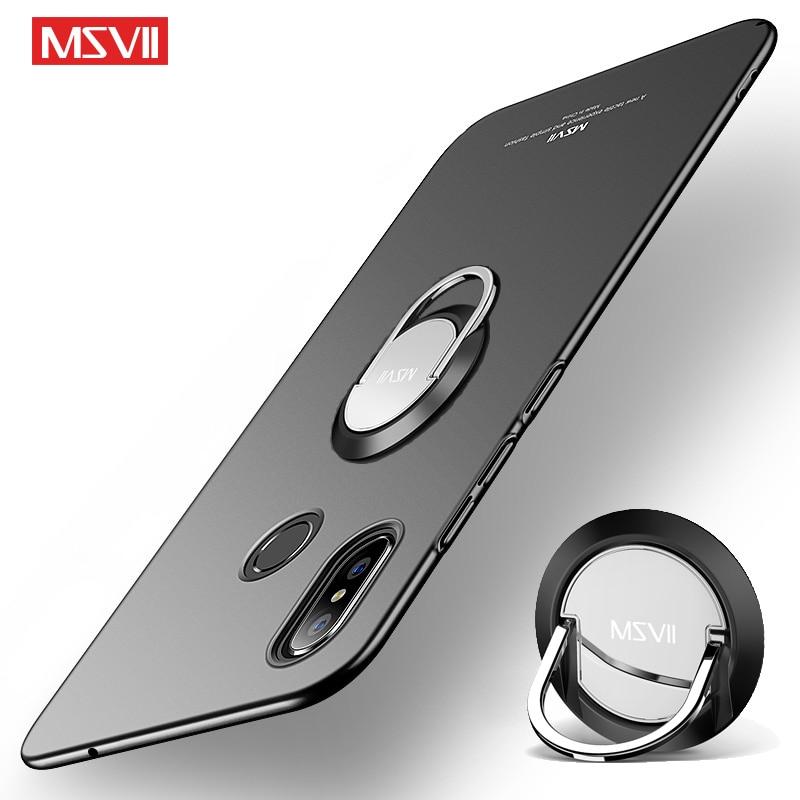 Xiaomi Mi Mix 3 Case Msvii Finger Ring Cover For Xiaomi Mi Mix3 Mix2 S Case Metal Ring Holder Cover For Xiaomi Mix 3 2 2S Cases