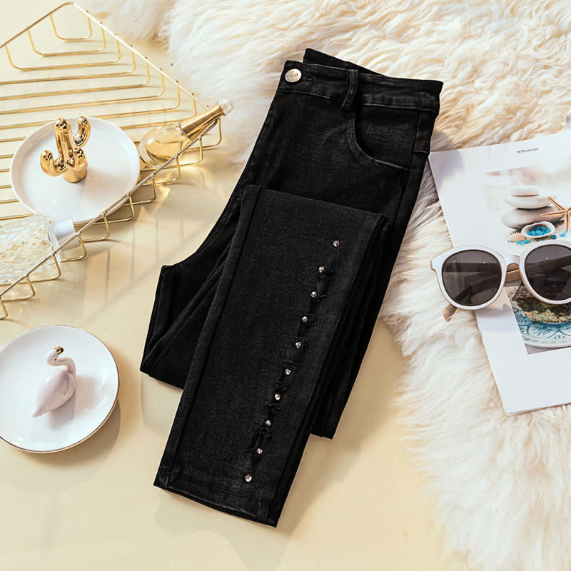 Black Jeans For Women Casual High Waist Skinny Jeans Pencil Pants Female Stretch Slim Vintage Plus Size Denim Jeans Women Q1187