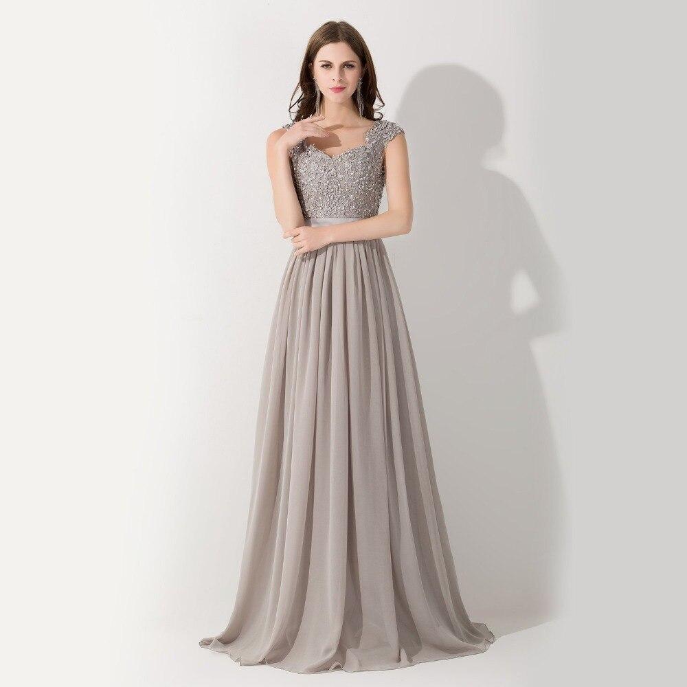 Grey Chiffon Gown