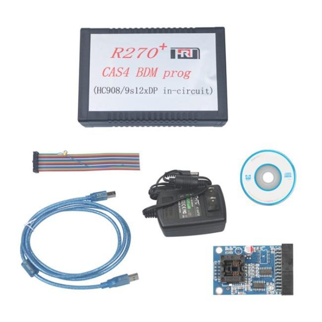 New Arriver R270+ V1.20 Auto CAS4 BDM key Programmer R270 Professional for b mw key prog car diagnostic By DHL Free Shipping