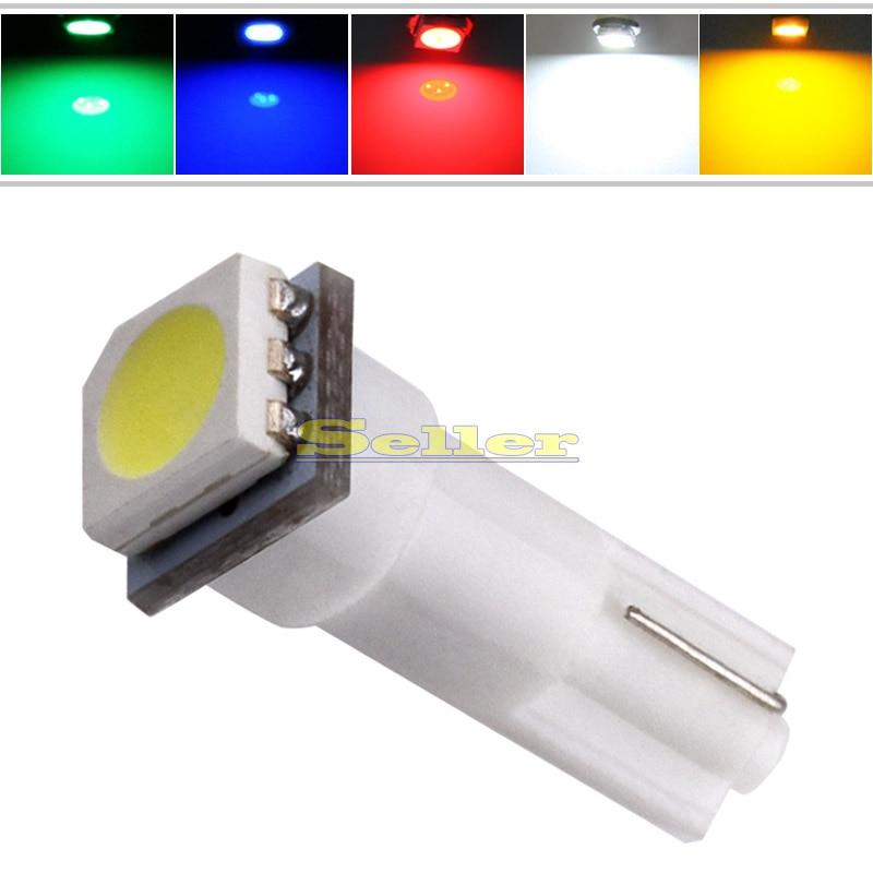 Online Shop 5pcs T5 1 SMD 5050 Dashboard Wedge 1 LED Car Light ...