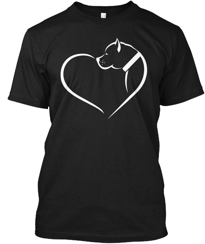 Любовь питбуль Популярные Tagless футболка