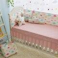 5 pcs colorido nuvens padrão bumper Berço Do Bebê Adesivos Para Crianças berço do bebê cama berço cama jogo de cama de algodão da menina do menino protetor