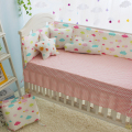 5 pcs colourful clouds pattern bumper Baby Crib Bumper Kids baby crib bedding set cotton boy girl bedding cot bed protector