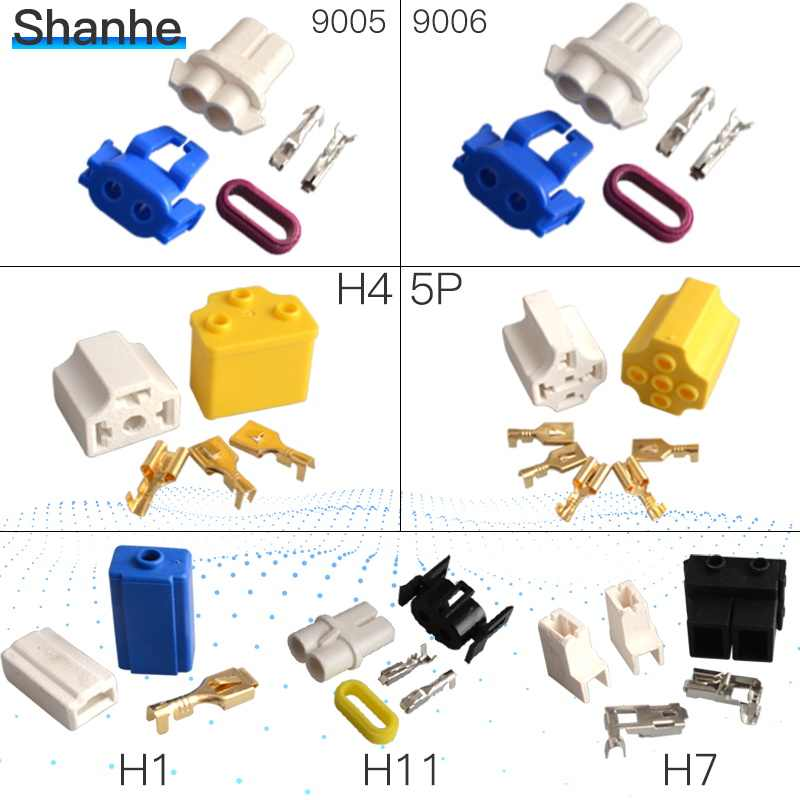 H1 H4 H7 9005 9006 H11 Car Truck Female Ceramic Headlight Extension Connector Plug Light Lamp Bulb Wire Socket Adapter