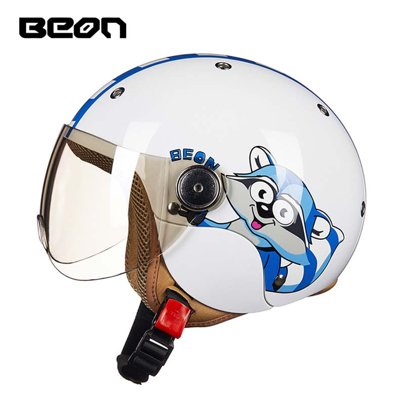 ECE BEON Cartoon cat children motocross half face motorcycle helmet ,MOTO electric bicycle safety headpiece for child kids