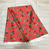 Hight quality African Fabric soft Satin Silk Fabric African style satin wax fabric for dresses ! P42402