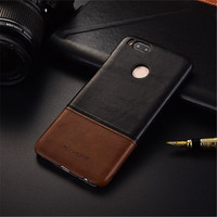 Luxury Brand Vintage Genuine Leather Back Cover Case For Xiaomi 5x Mi A1 Phone Cases And