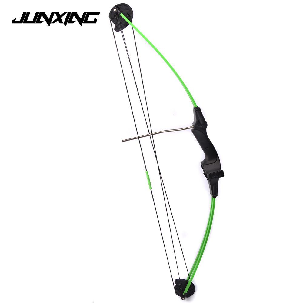 Compound Bow for Children 34 Inches Draw Weight 15Lbs Black Fiberglass Handle for Archery Practice Competition Game Shooting hot sale children compound bow draw weight 8 12 lbs for archery practice competition games bow target hunting shooting page 4