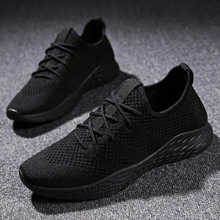 Men Casual Shoes 2019 Spring Summer Shoes Men Sneakers Flats Mesh Slip On Loafers Fly Knit Breathable shoes Plus Size 39-46 knit design slip on sneakers