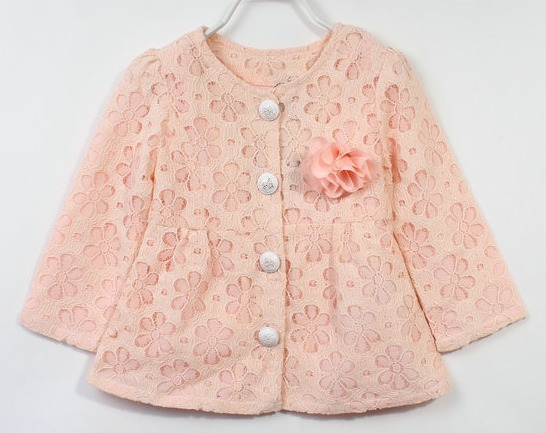 new arrival 2013 autumn fashion  hot sell girl lace cardigan/jacket,5pcs/lot brand name white pink yellow