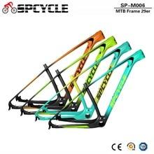 """Spcycle carbono mtb quadro 29er quadro da bicicleta de montanha carbono 2020 novo t1000 carbono mtb quadros pf30 15/17/19/21"""""""