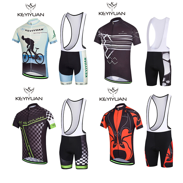 KEYIYUAN Cycling clothes suit Men summer sunscreen Short sleeves breathable  tops Silicone pants Mountain bike Cycles Cycling clo 82088be4d