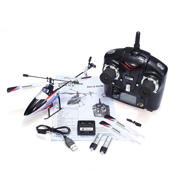 ФОТО Hot Sale WLtoys V911-pro V911-V2 2.4G 4CH RC Helicopter Model 2