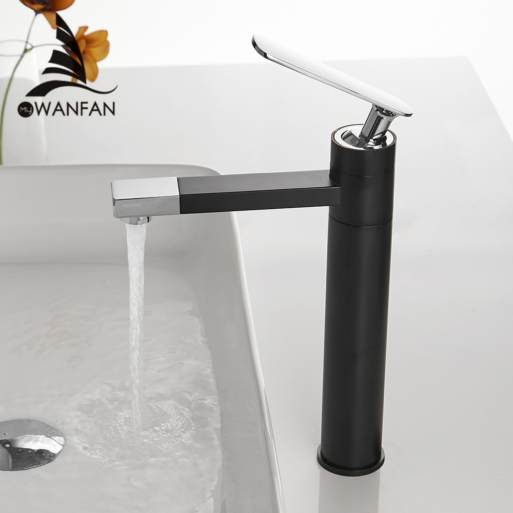 Basin Faucet Matte Black Faucet Tap Bathroom Sink Faucet Single Handle Hole Deck Mounted Wash Hot Cold Mixer Tap Crane 855019Basin Faucet Matte Black Faucet Tap Bathroom Sink Faucet Single Handle Hole Deck Mounted Wash Hot Cold Mixer Tap Crane 855019