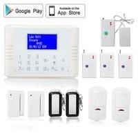 Multi menú 433 MHz control de APP gsm pstn sistema de alarma de su casa sistema de seguridad antirrobo pir motion detector de fugas de agua de vibración sensor